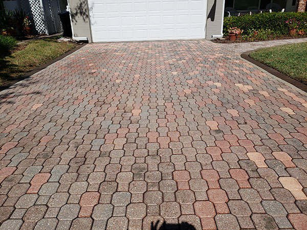 A Driveway With Clean Pavers
